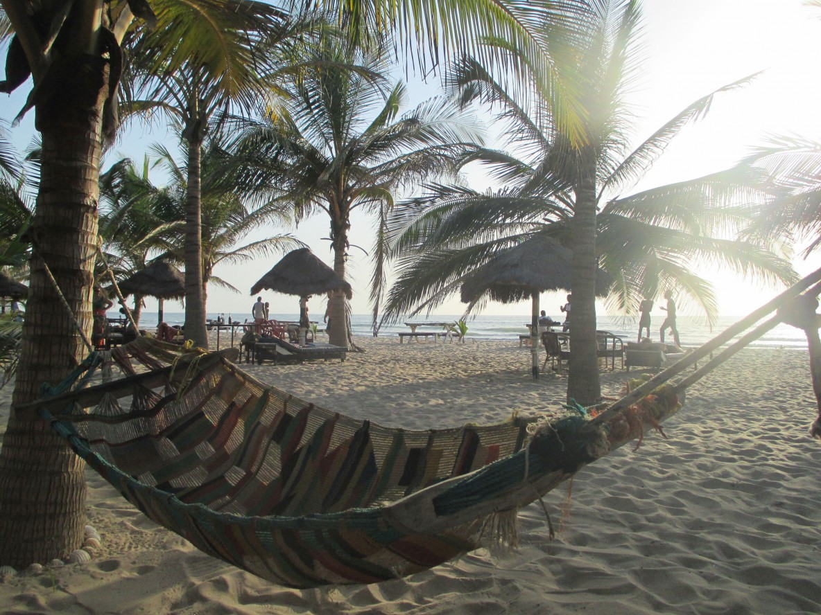 view from hammock on the beach